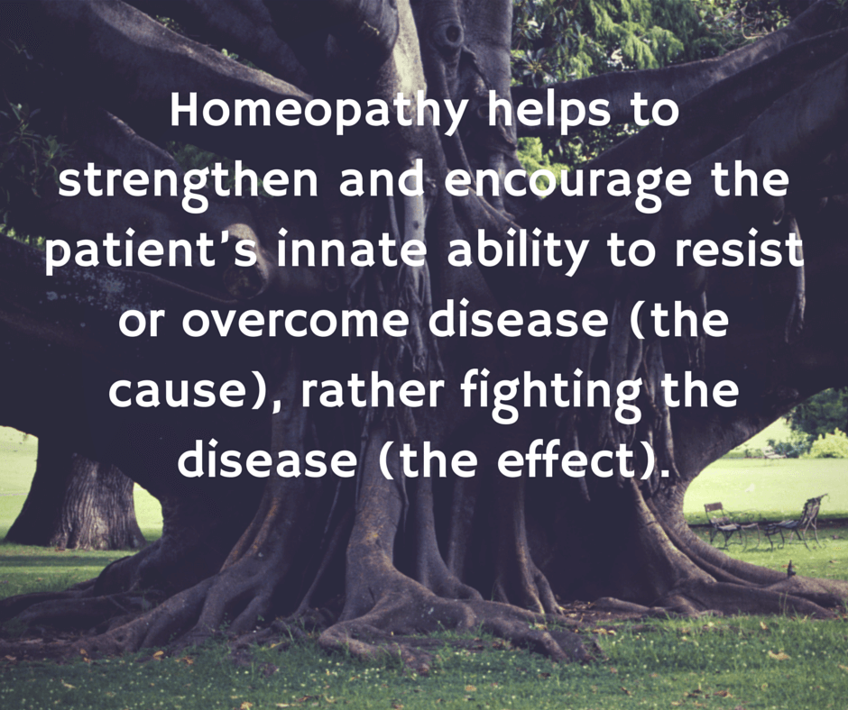 What do we mean when we say homeopathy is a holistic therapy? - CHE